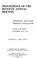 Proceedings of the Annual Meeting - Industrial Relations Research Association