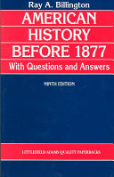 American History Before 1877