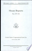 United States Congressional Serial Set Serial No 14991 House Reports Nos 277 315 Book PDF