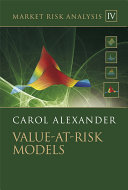 Market Risk Analysis, Value at Risk Models
