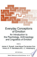 Everyday Conceptions of Emotion Book