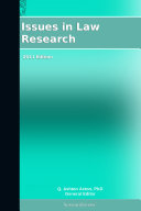 Issues in Law Research: 2011 Edition [Pdf/ePub] eBook