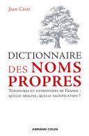 Pdf Dictionnaire des noms propres Telecharger