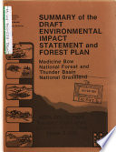 Medicine Bow National Forest  N F   and Thunder Basin National Grassland  Land and Resource s  Management Plan  LRMP