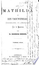Mathilda, of Een vrouwenhart Pdf/ePub eBook