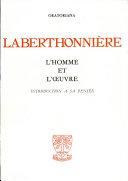 Laberthonnière; l'homme et l'oeuvre