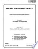 Niagara Import Point Project  Natural Gas Pipeline Facilities Construction and Operation