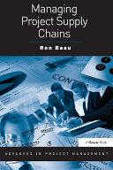 Managing Project Supply Chains Pdf/ePub eBook