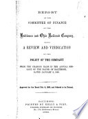 Report of the Committee of Finance of the Baltimore and Ohio Railroad Company Book