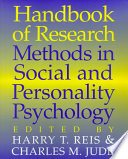 Handbook of Research Methods in Social and Personality Psychology Book