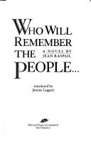 Who Will Remember the People--