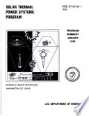 Solar Thermal Power Systems Program