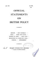 Official Statements on British Policy