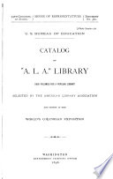 Catalog of  A L A   Library