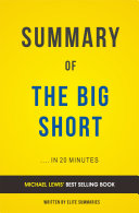 The Big Short: by Michael Lewis | Summary & Analysis