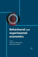 Behavioural and Experimental Economics