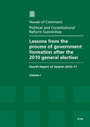 Lessons from the process of government formation after the 2010 general election
