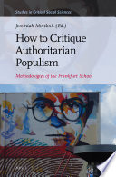 How to Critique Authoritarian Populism Book PDF