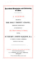 Sacerdotal Remission and Retaining of Sins  A sermon  on John xx  22  23
