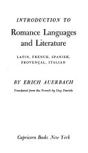 Introduction to Romance Languages and Literature