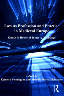 Law as Profession and Practice in Medieval Europe Pdf/ePub eBook