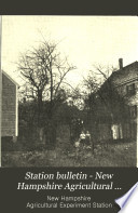 Station Bulletin   New Hampshire Agricultural Experiment Station