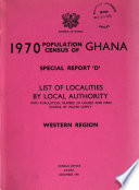 1970 Population Census of Ghana. Special Report