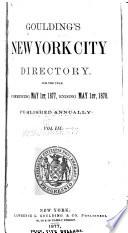 Gouldings New York City Directory