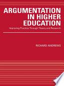 Argumentation in Higher Education