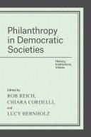 Philanthropy in Democratic Societies Pdf/ePub eBook