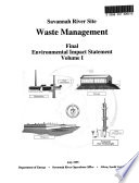 Savannah River Site Waste Management Facilities, Aiken County, Allendale County, Barnwell County