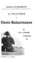 A travers les oasis sahariennes ebook
