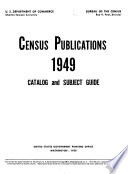 Census Publications Catalog And Subject Guide