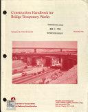 Construction Handbook for Bridge Temporary Works