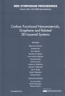 Carbon Functional Nanomaterials  Graphene and Related 2D Layered Systems  Book