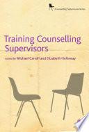 Training Counselling Supervisors