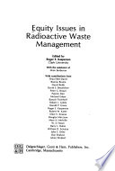 Equity Issues in Radioactive Waste Management