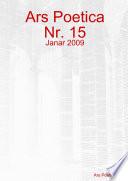 Ars Poetica Nr. 15, Janar 2009