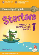 Cambridge English Starters 1 for Revised Exam from 2018 Student s Book