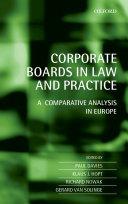 Corporate Boards in European Law