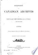 Report on Canadian Archives
