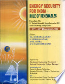Energy Security for India : Role of Renewables