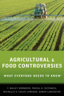 Agricultural and Food Controversies
