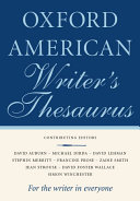 The Oxford American Writer s Thesaurus