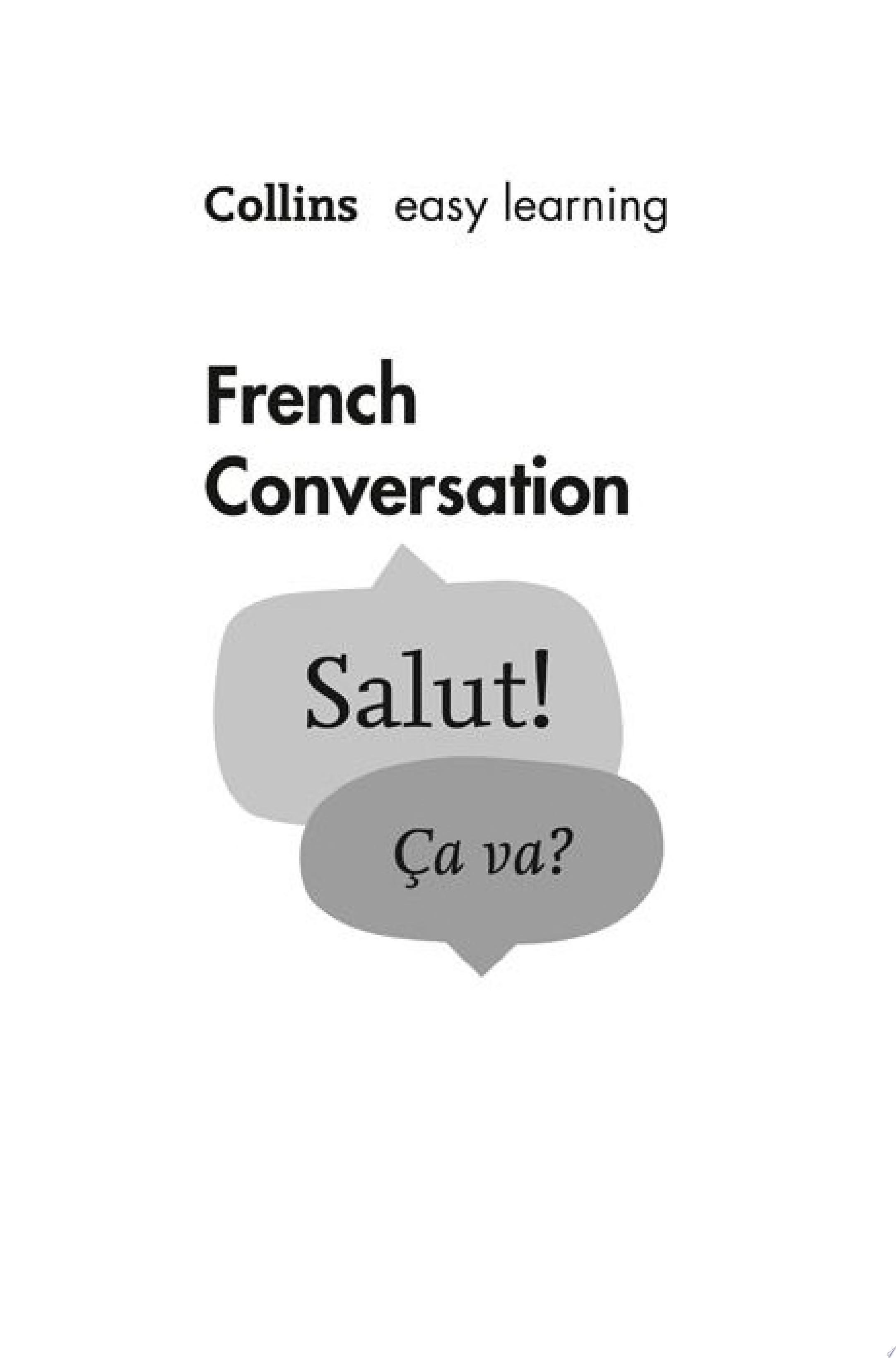Easy Learning French Conversation  Collins Easy Learning French