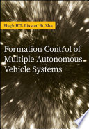 Formation Control of Multiple Autonomous Vehicle Systems