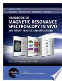 Handbook of Magnetic Resonance Spectroscopy In Vivo