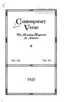 Contemporary Verse