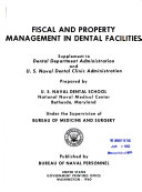 Fiscal and Property Management in Dental Facilities