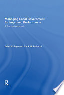Managing Local Government For Improved Performance